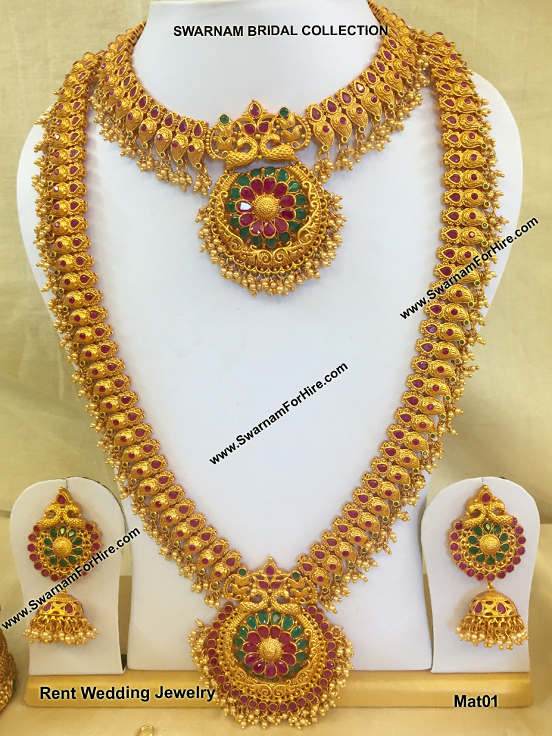 Rent Matte Beads Bridal Set Rent Bridal Jewelry In Chennai