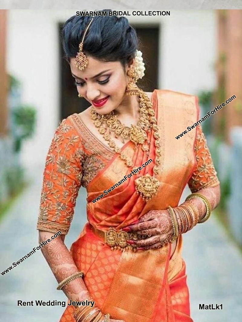 Rent Matte Lakshmi Bridal Set Rent Bridal Jewelry In Chennai